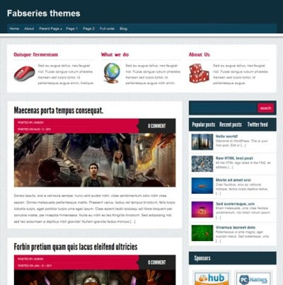 Шаблон WordPress - Petra