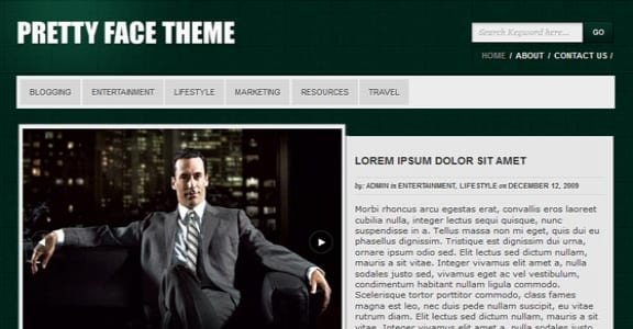 Шаблон Wordpress - Pretty Face Theme