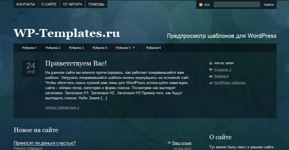 Шаблон Wordpress - Pretty Spots