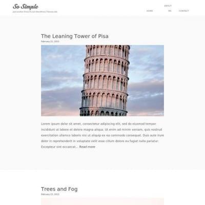 Шаблон WordPress - So Simple 75