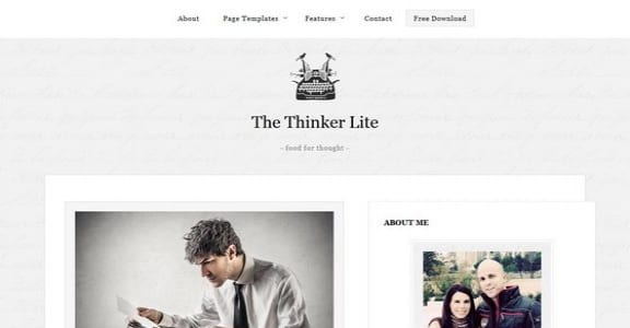 Шаблон Wordpress - The Thinker Lite