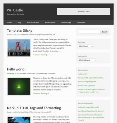 Шаблон WordPress - WP Castle