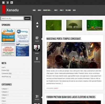 Шаблон WordPress - Xanadu