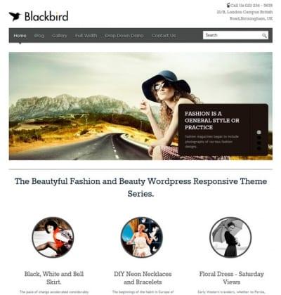 Шаблон WordPress - BlackBird