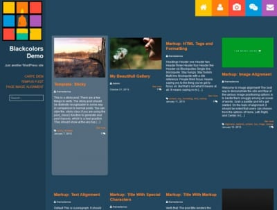 Шаблон WordPress - Blackcolors