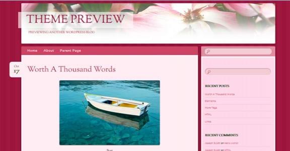 Шаблон Wordpress - Bouquet