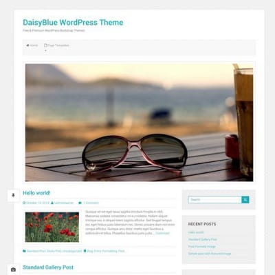 Шаблон WordPress - Daisy Blue