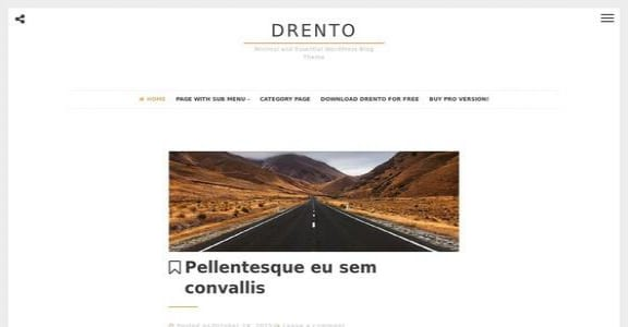 Шаблон Wordpress - Drento