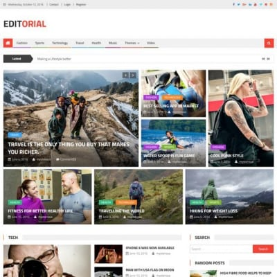 Шаблон WordPress - Editorial