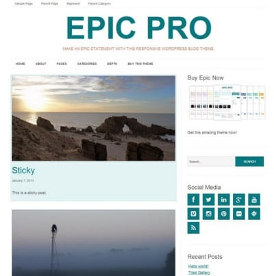 Шаблон WordPress - Epic