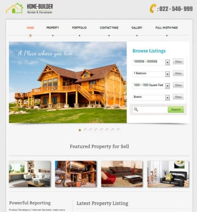 Шаблон WordPress - Home Builder Theme