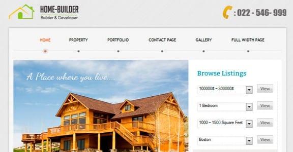 Шаблон Wordpress - Home Builder Theme