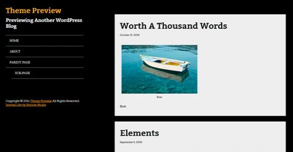 Шаблон Wordpress - Journal Lite