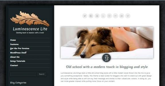Шаблон Wordpress - Luminescence Lite