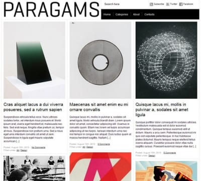 Шаблон WordPress - Paragrams