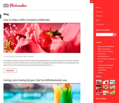 Шаблон WordPress - PhotoMaker
