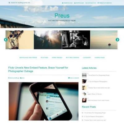 Шаблон WordPress - Preus