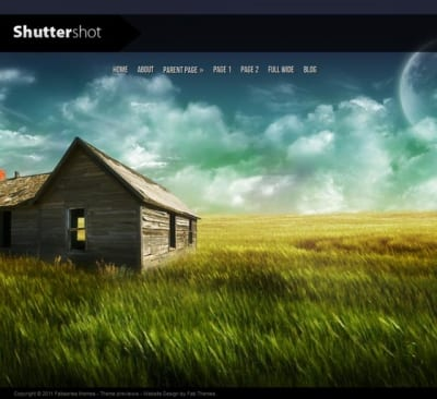Шаблон WordPress - Shuttershot
