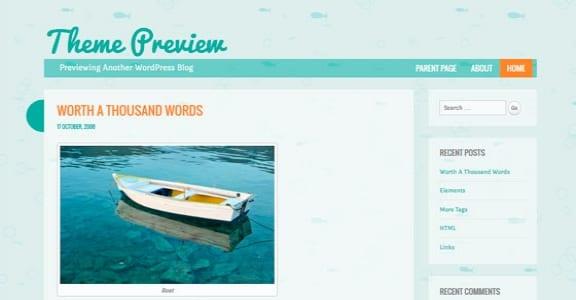 Шаблон Wordpress - Something Fishy