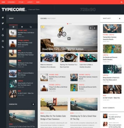 Шаблон WordPress - Typecore