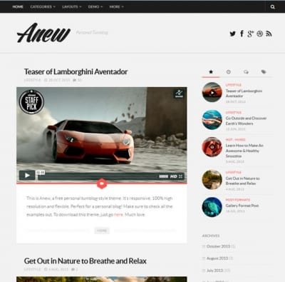 Шаблон WordPress - Anew