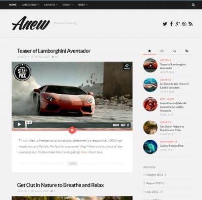 Шаблон WordPress - Anew