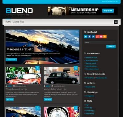 Шаблон WordPress - Bueno