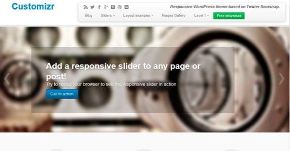 Шаблон Wordpress - Customizr