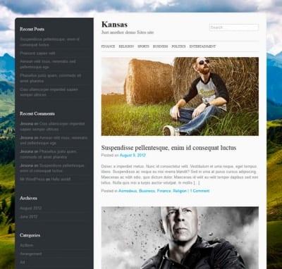Шаблон WordPress - Kansas