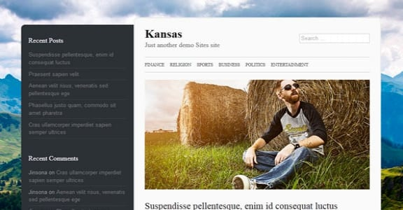 Шаблон Wordpress - Kansas