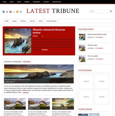 Шаблон WordPress - LatestTribune