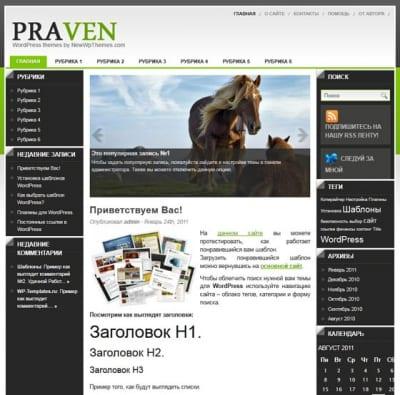 Шаблон WordPress - Praven