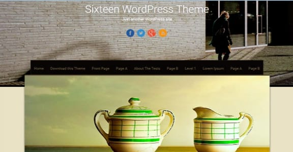 Шаблон Wordpress - Sixteen
