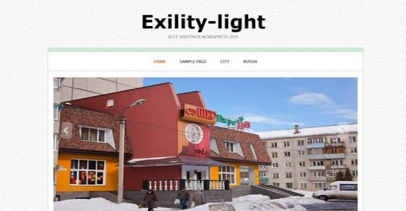 Шаблон Wordpress - Exility Light