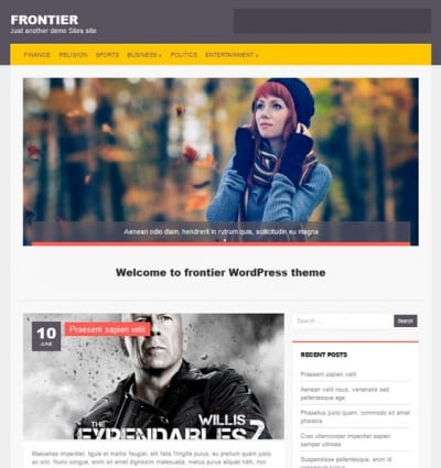 Шаблон WordPress - Frontier