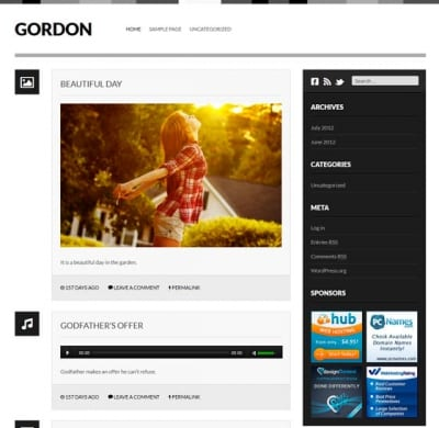 Шаблон WordPress - Gordon
