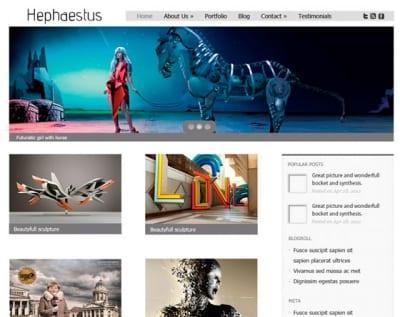 Шаблон WordPress - Hephaestus
