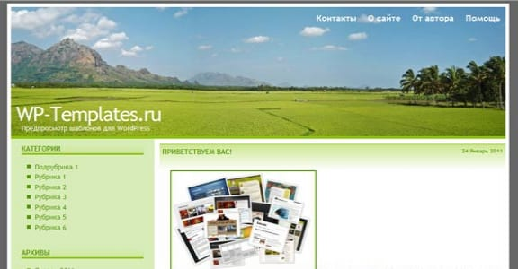 Шаблон Wordpress - Paddy-Harvest