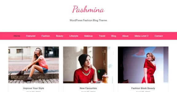 Шаблон Wordpress - Pashmina