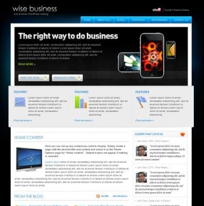 Шаблон WordPress - WiseBusiness