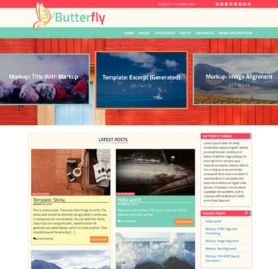 Шаблон WordPress - Butterfly Abode