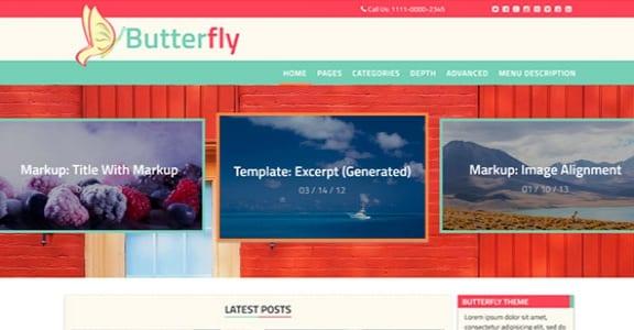 Шаблон Wordpress - Butterfly Abode