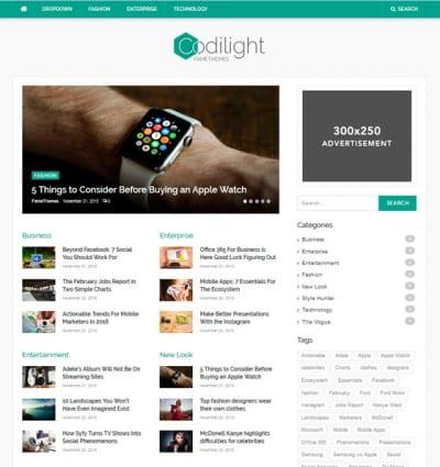 Шаблон WordPress - Codilight Lite