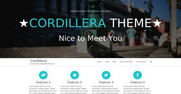 Шаблон Wordpress - Cordillera