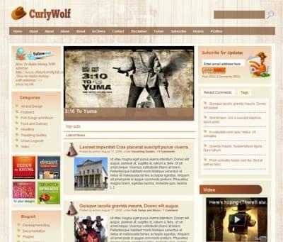 Шаблон WordPress - Curly Wolf