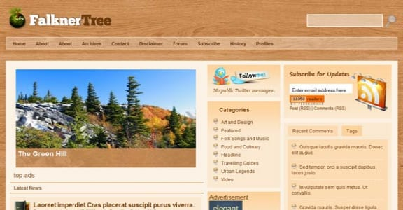 Шаблон Wordpress - Falkner Tree