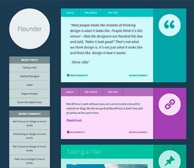 Шаблон WordPress - Flounder