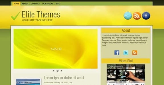 Шаблон Wordpress - Greema