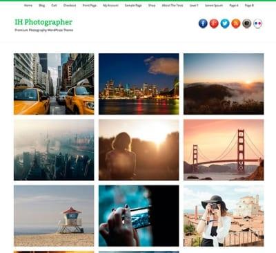 Шаблон WordPress - IH Photographer