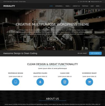 Шаблон WordPress - Modality